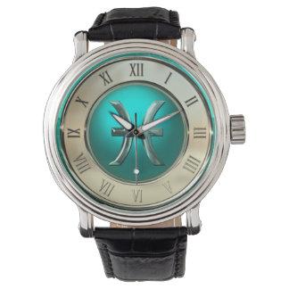 Astrologisches Zeichen Fische Armbanduhr