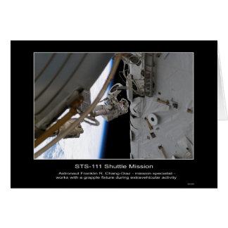 Astronaut Franklin R. Chang-Diaz NASA STS-111 Karte
