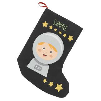 Astronaut - Raumfahrer-Sterne im Raum Kleiner Weihnachtsstrumpf