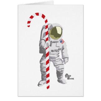 Astronauten-Feiertags-Karte Grußkarte