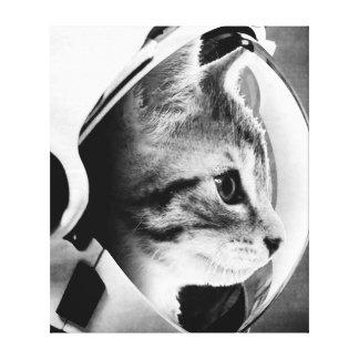 Astronauten-Katze #3 Leinwanddruck