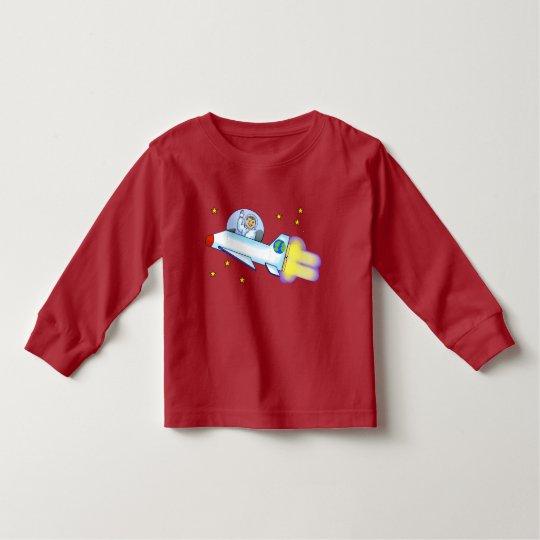 Astronauten-Kleinkind-langer Hülsen-T - Shirt