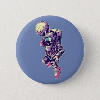Astronauten-Mond tauchen Knopf - NBA ein Runder Button 5,1 Cm