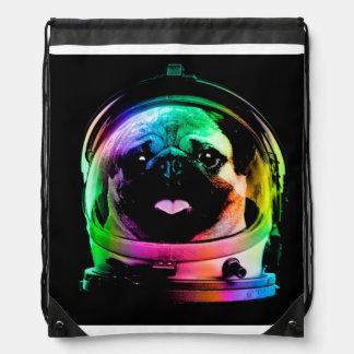 Astronauten-Mops - Galaxie-Mops - Mopsraum - Sportbeutel
