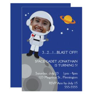 Astronauten-Raum-Forscher-Geburtstags-Foto 12,7 X 17,8 Cm Einladungskarte