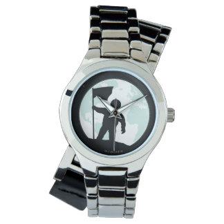 Astronauten-Silhouette Armbanduhr