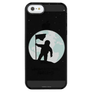 Astronauten-Silhouette Durchsichtige iPhone SE/5/5s Hülle