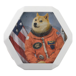 Astronautenhund - Doge - shibe - Doge memes Weiße Bluetooth Lautsprecher
