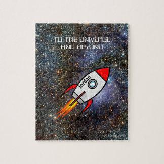 Astronomie-Name- und -textrakete