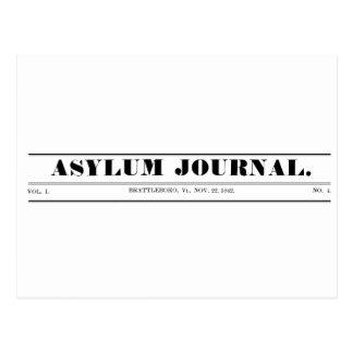 Asyl-Zeitschriften-Mastkorb-Postkarte 1842 Postkarte