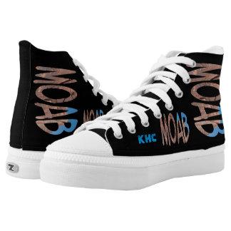 Asymetrisches Datum + Monogramm personalisiertes Hoch-geschnittene Sneaker