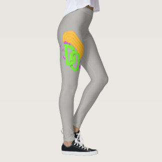 Asymetrisches Grau gefürchtete Leggings