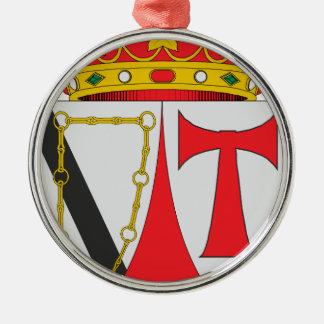 Atalaya Rundes Silberfarbenes Ornament
