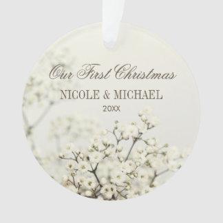 Atem des weichen der Vintage Babys unser erstes Ornament