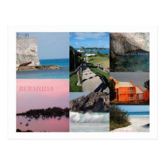 Atemberaubende Bermuda-Foto-Collage durch Celeste Postkarte