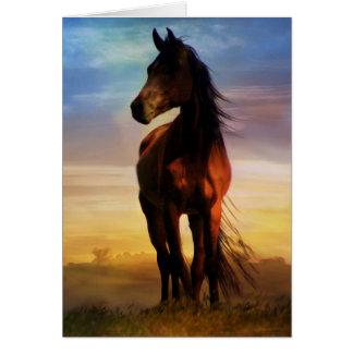 Atemberaubende Silhouette-pferdeartiges Beileid Grußkarte