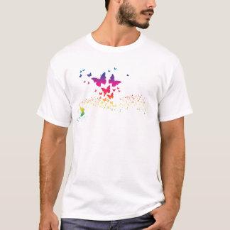 Atemberaubender Regenbogen Butterflys, Regenbogen T-Shirt