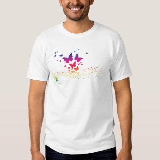 Atemberaubender Regenbogen Butterflys, Regenbogen T-shirts