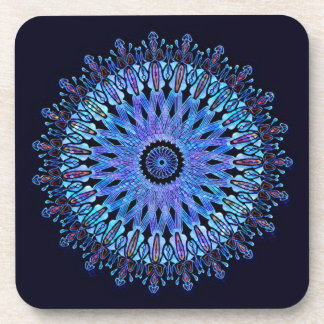 Atemberaubendes blaues Mosaikkaleidoskop Untersetzer