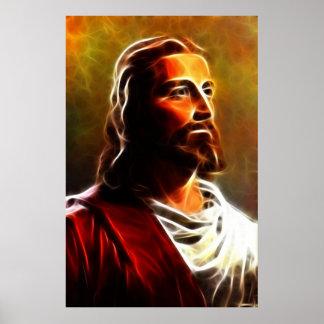 Atemberaubendes Jesus Christus-Porträt Poster