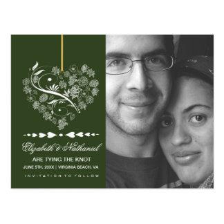 Atemlose SAVE THE DATE Postkarte-verzauberte Postkarte