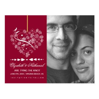 Atemlose SAVE THE DATE Postkartenmoosbeere Postkarte