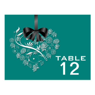 Atemlose Tischnummer-Karte - Pfau Postkarte