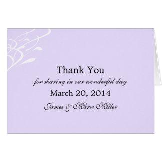 Atemloser leicht Lavendel danken Ihnen Notecard Karte