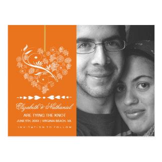 Atemloser SAVE THE DATE Postkartenkürbis Postkarte