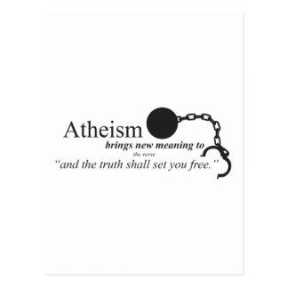 Atheismus holt neue Bedeutung Postkarte