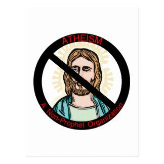 Atheismus-nicht Prophet Postkarte