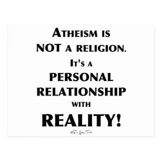 Atheismus und Wirklichkeit Postkarte