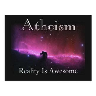 Atheismus, Wirklichkeit ist fantastisch Postkarte