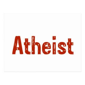 Atheist im Rot Postkarte