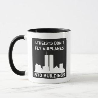 Atheisten fliegen Flugzeuge nicht in Gebäude Tasse