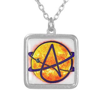 Atheisten-Symbol FlammensSun Versilberte Kette
