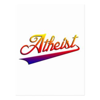 Atheistischer orange Swash Postkarte