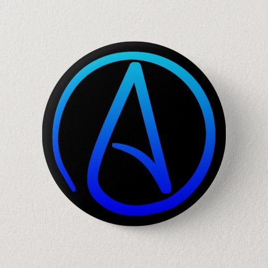Atheistischer Symbol-Knopf Runder Button 5,1 Cm