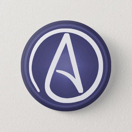 Atheistischer Symbolknopf Runder Button 5,1 Cm