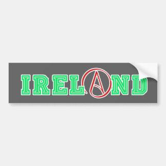 Atheistisches Irland Autoaufkleber