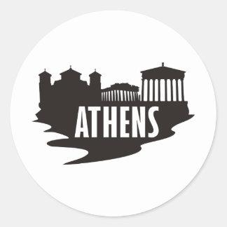 Athen Runder Aufkleber