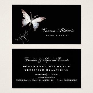 Ätherischer Schein-Schmetterlings-eleganter Visitenkarten