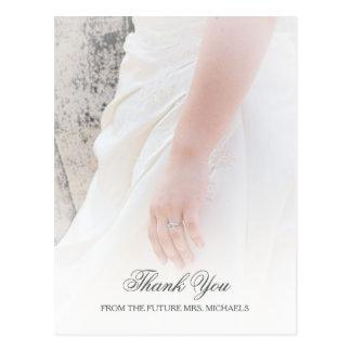 Ätherisches Braut-HandFoto-Brautparty danken Ihnen Postkarte
