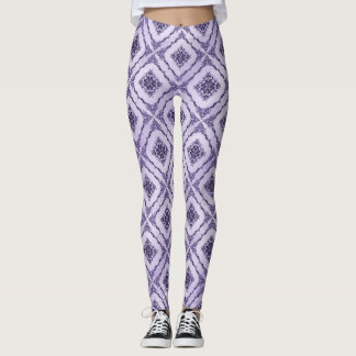 Ätherisches Lila und Lavendel-Diamant-Muster Leggings