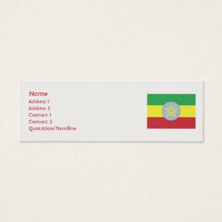 Äthiopien - dünn mini visitenkarte