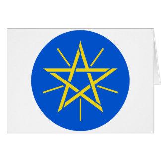 Äthiopien-Emblem Karte
