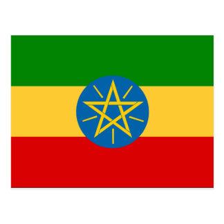 Äthiopien-Flagge Postkarte