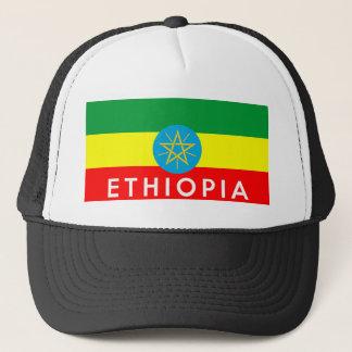Äthiopien-Flaggenland-Textname Truckerkappe