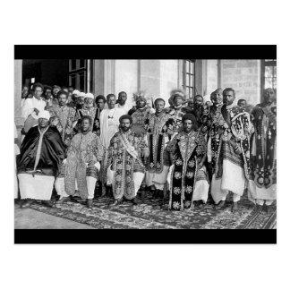 Äthiopische Abgabezwanziger jahre - 1930 Postkarte