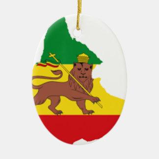 Äthiopische Flaggenfotorezeptor-Linie 👍😂😂👌 Ovales Keramik Ornament